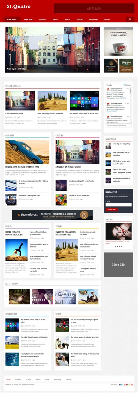 newspaper theme for drupal 20 best responsive drupal magazine themes 2017