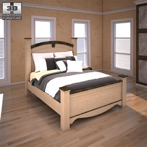 olivia bedroom set 3d model ashley olivia bay poster bedroom set vr ar low poly max obj 3ds fbx mtl