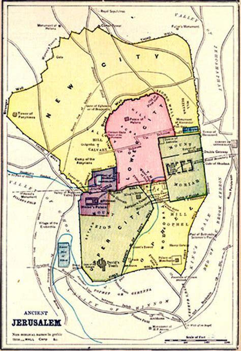 jerusalem map world maps jerusalem