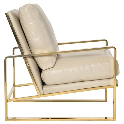 cream armchair brea hollywood regency cream leather gold metal armchair