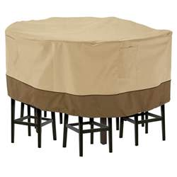 Cover For Patio Table And Chairs Classic Accessories Veranda Large Patio Table And 8 Chairs Set Cover 55 781