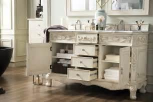 53 inch single sink bathroom vanity vintage vanilla finish