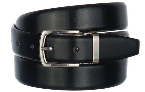 strait city image box leather dress belt black silver 804