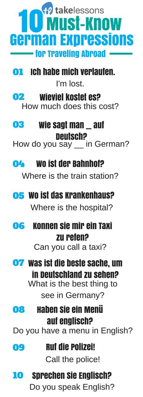 german expressions  traveling  takelessons blog