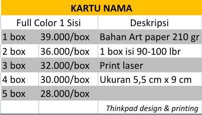 Print Kartu Nama Color kartu nama print laser desain grafis percetakan
