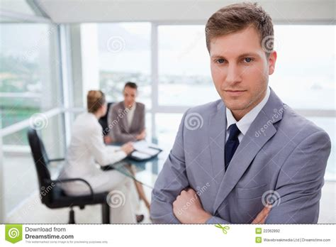 sales manager standing stock photography image