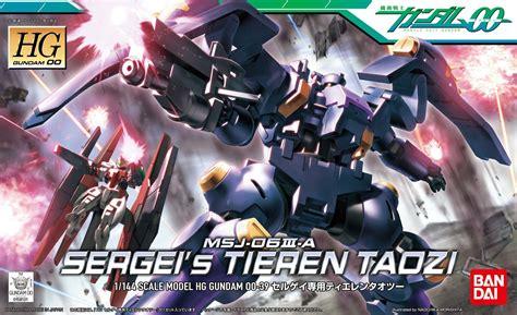 Gundam Msj 06iii A Sergei S Tieren Taozi Hg Scale 1 144 gundam 00 1 144 high grade sergei s tieren taozi