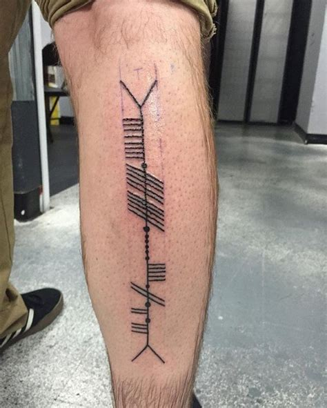 50 ogham tattoo designs for men ancient alphabet ink ideas