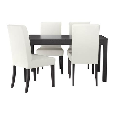 Ikea White Dining Table And Chairs Bjursta Henriksdal Table And 4 Chairs Ikea