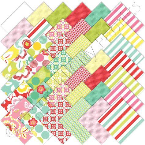 Quilting Fabric Charm Packs by Moda Moxi Charm Pack Emerald City Fabrics