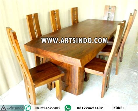 Kursi Kayu Meja Makan set kursi makan meja kayu trembesi arts indo furniture jepara arts indo furniture jepara
