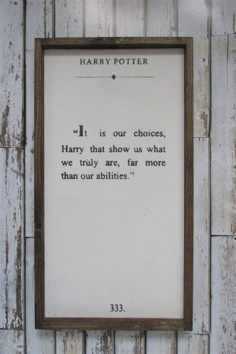 harry potter quote wood sign harry potter decor rustic