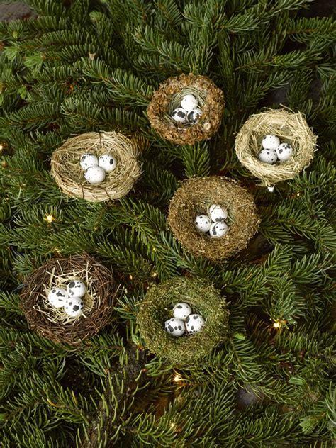 bird nest ornament set of 6 christmas tree ornaments