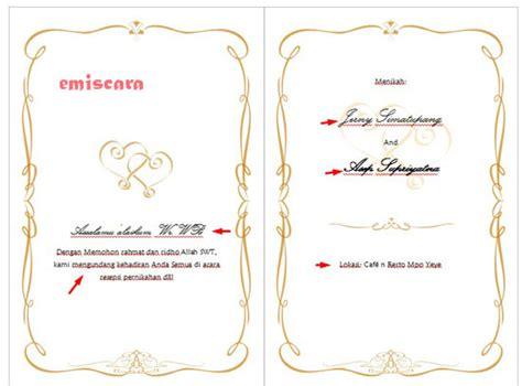 cara membuat undangan pernikahan sederhana sendiri cara membuat contoh undangan pernikahan sederhana dengan