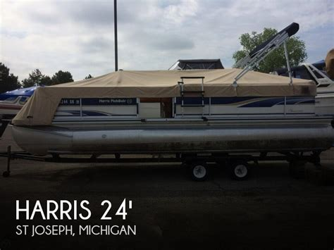 used harris pontoon boats for sale michigan harris flotebote classic 240 for sale in st joseph mi for