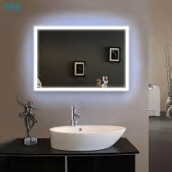 illuminated wall mirrors for bathroom illuminated led bathroom glass mirror 500mm x 700mm wall