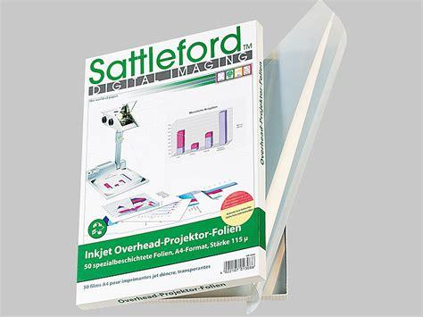 Folie Drucken Mit Tintenstrahldrucker by Sattleford Overheadfolie 50 Inkjet Overhead Folien Din