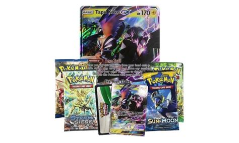 Kaos Koko Modern Slg shiny tapu koko gx collectible card box new 2017 groupon