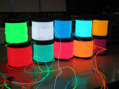 Electroluminescent L 1000 ideas about textilkabel on tischle