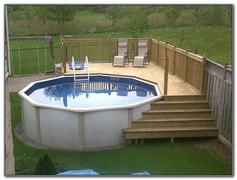 cheap pool ideas cheap above ground pool deck ideas decks home