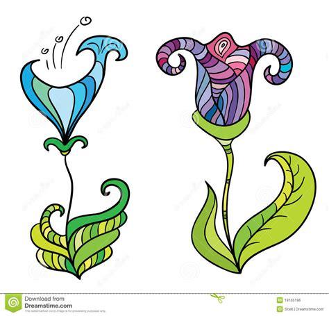 fiori fantastici fiori fantastici di colore immagine stock libera da