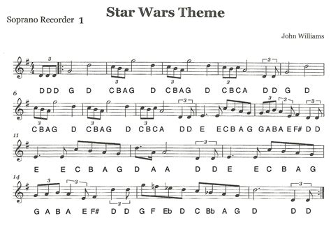theme song star wars third street music recorder ensemble quot star wars quot first