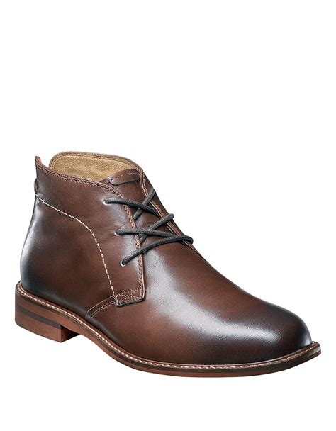 florsheim doon leather chukka boots in brown for lyst