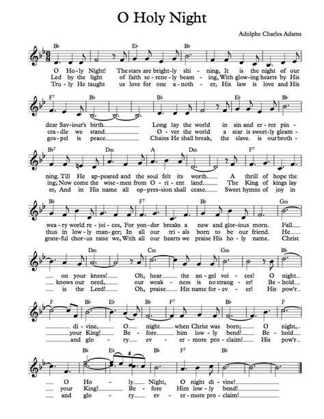 Printable Sheet Music For O Holy Night   free lead sheet o holy night michael kravchuk