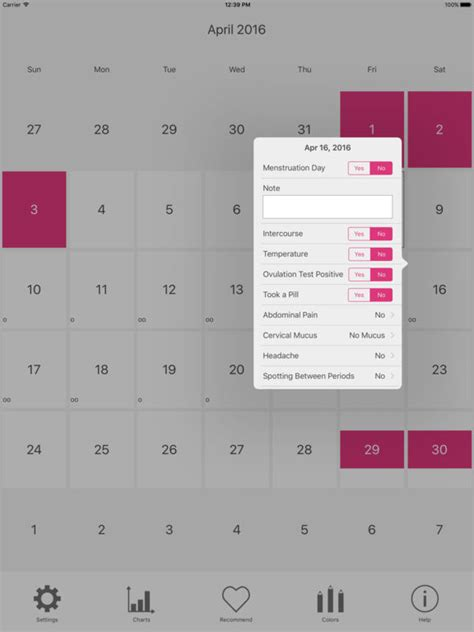 Ovulation Calendar App Menstrual Period Tracker And Ovulation Calendar On The App