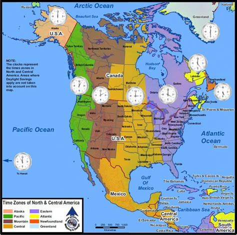 map of usa showing different time zones time zones of america maps by geo earth mapping