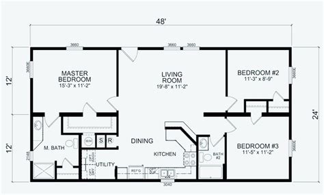 16 Wide Mobile Home Floor Plans 24 x 48 mobile home floor plans mobile homes ideas