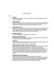 catering contract agreement template catering contract template 6 free templates in pdf word