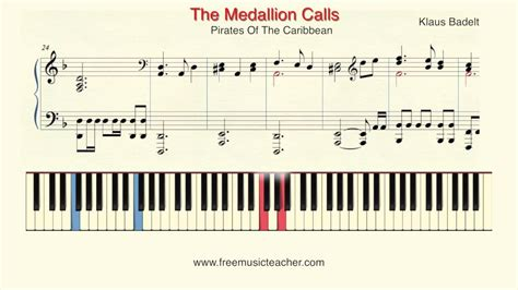 tutorial piano pirates of the caribbean how to play piano pirates of the caribbean quot the medallion