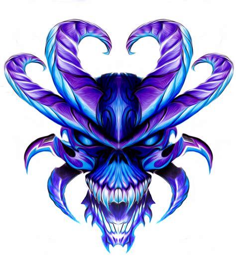 skull with wings tattoo designs 8 horned skull design by neogzus on deviantart