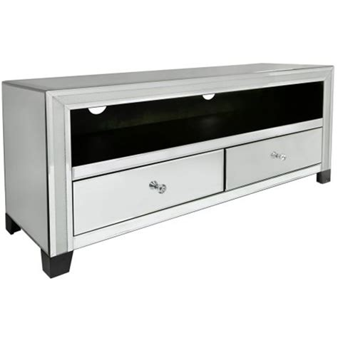 Mirrored Tv Cabinet by Turin Mirrored Tv Cabinet Venetian Glass Furniture