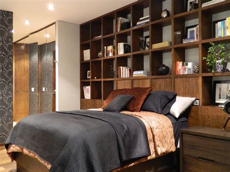 Bookcase Headboard Ideas by Glamorous Bookcase Headboard Decorating For Bedroom