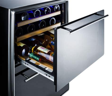 Drawer Cooler by Summit 174 24 Quot Two Drawer Dual Zone Wine Fridge The Cooler