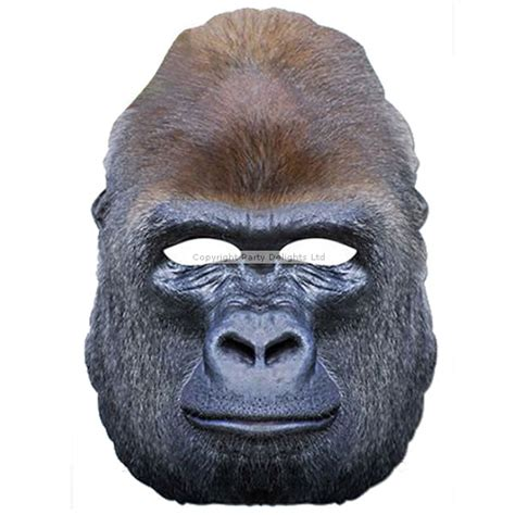 printable gorilla mask free i m being harambe for halloween but don t want to wear a