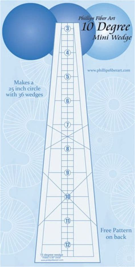 10 degree wedge template 10 degree wedge 25 ruler by phillips fiber arts tdw