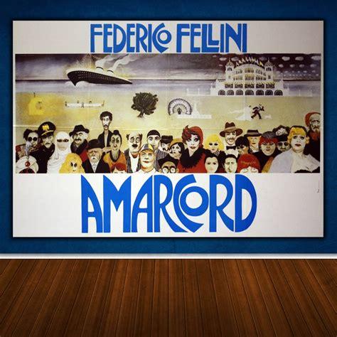 cornici 100x70 poster amarcord orizzontale 100x70 cm federico fellini
