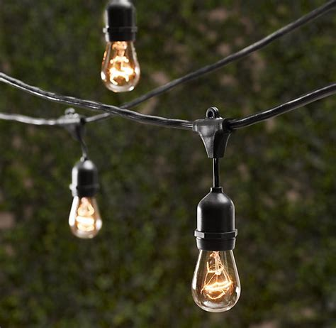 outdoor edison string lights create an inviting outdoor conversation area