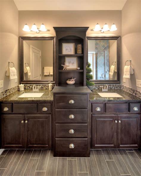 dark wood bathroom cabinets 1000 ideas about black bathroom vanities on pinterest