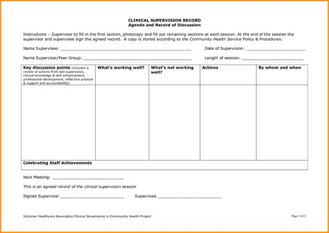 Employee Supervision Template 6 staff supervision template free debt spreadsheet