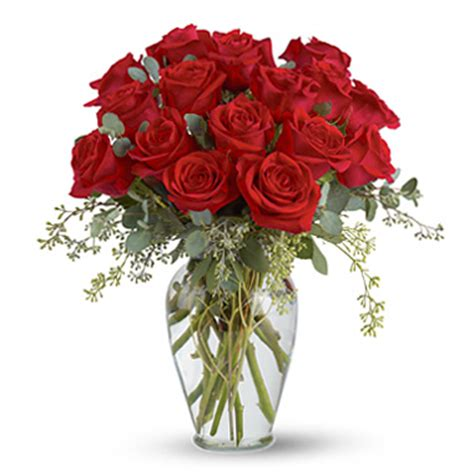 A Vase Of Roses by Vase T2553 Florist Delivery In Chicago And Suburbs