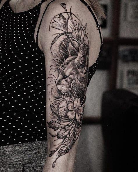 tattoo cat and flower 100 exles of cute cat tattoo flower sleeve tattoos