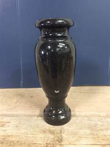 black galaxy granite headstone vase monument cemetery