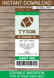 ticket invitations template free football ticket invitation template football ticket