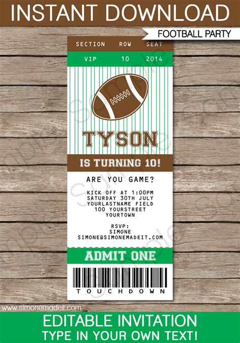 Free Download Sports Birthday Invitations Images