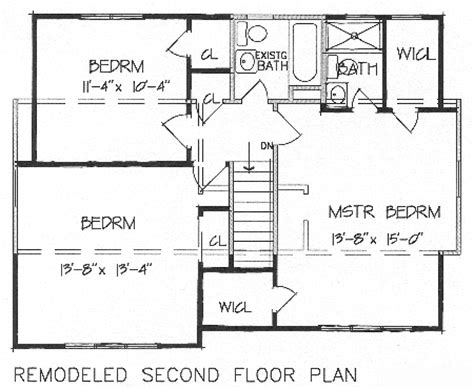 2nd floor house plan add a second floor cap04 5179 the house designers