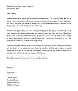 parent letter template 9 parent letter templates free sle exle format